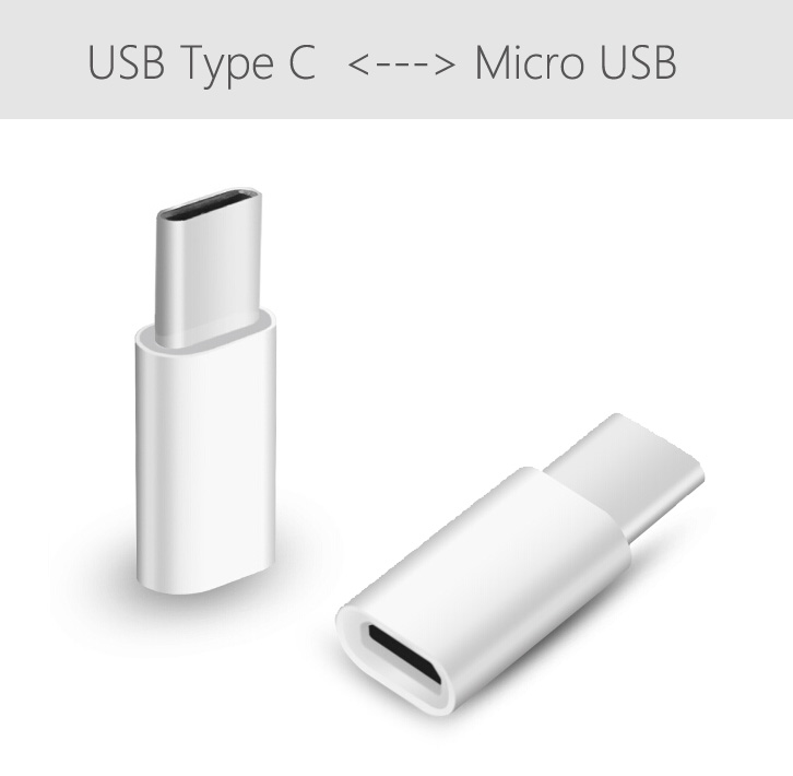 Details about White MicroUSB Female To USB C 3 1 Type C Male Adapter  Convert MicroUSB to USB C