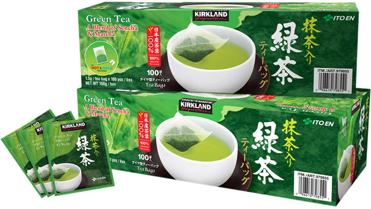 Kirkland Signature Japanese Green Tea Bags Sencha Matcha Blend